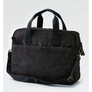 American Eagle Outfitters Black Camo Messenger Bag
